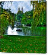 At The Lake In Central Park Canvas Print