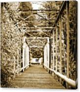 At The Other End Of The Old Bridge Canvas Print