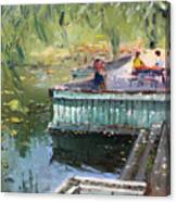 At The Park By The Water Canvas Print