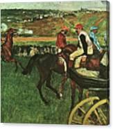 At The Races, Digitally Enhanced, Edgar Degas, Digitally Enhanced Maximum Resolution Canvas Print