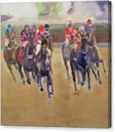 At The Races Canvas Print