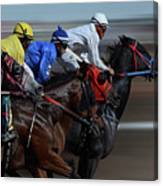 At The Racetrack 1 Canvas Print