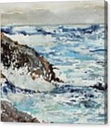 At The Rocks Canvas Print