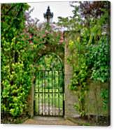 At The Secrete Gate To The Garden. Canvas Print
