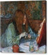 At The Toilet, Madame Poupoule Canvas Print