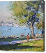At Tonawanda Park By The River Canvas Print