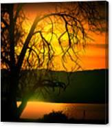Atardecer Salton Sea Canvas Print