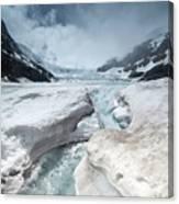 Athabasca Glacier, Alberta, Canada Canvas Print