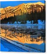 Athabasca River Glow Canvas Print