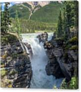 Athabaska Falls, Mt. Hardisty Canvas Print