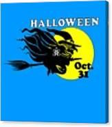 Atheist Halloween Witch Canvas Print