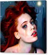 Athena Girl Canvas Print