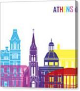 Athens Oh Skyline Pop Canvas Print
