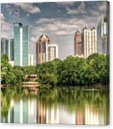 Atlanta As Viewed From Piedmont Park Canvas Print