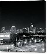Atlanta Black And White Panorama Canvas Print