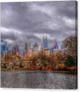 Atlanta City Skyline Georgia Usa Hdr Canvas Print