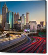 Atlanta Downtown Lights Canvas Print