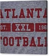 Atlanta Falcons Retro Shirt Canvas Print
