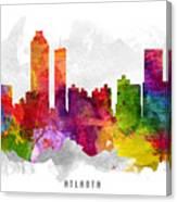 Atlanta Georgia Cityscape 13 Canvas Print
