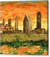 Atlanta Georgia Skyline 10 Canvas Print