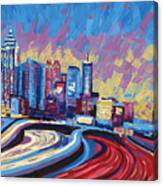 Atlanta Georgia Skyline 17 Canvas Print