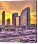 Atlanta Midtown Atlantic Station Sunset Canvas Print