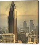Atlanta Skyline At Dusk Canvas Print