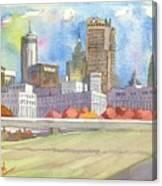 Atlanta Skyline Color Canvas Print