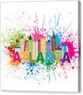Atlanta Skyline Paint Splatter Text Illustration Canvas Print