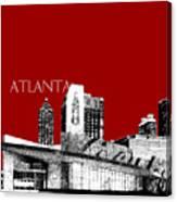 Atlanta World Of Coke Museum - Dark Red Canvas Print