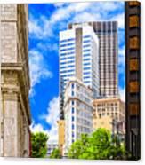 Atlanta's Flatiron On Peachtree Street Canvas Print