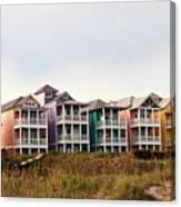 Atlantic Beach Nc   Beach Houses Canvas Print