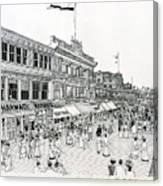 Atlantic City Boardwalk 1900 Canvas Print