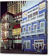 Atlantic City Boardwalk At Night Canvas Print