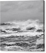 Atlantic Storm In Black And White Canvas Print