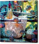 Atlantis Aquarium In Watercolor Canvas Print