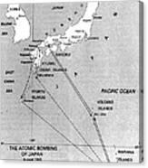 Atomic Bombing Of Japan, 1945 Canvas Print
