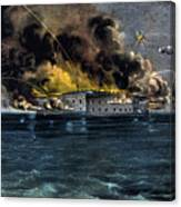 Attack On Fort Sumter Canvas Print