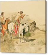 Attack On The Muleteers Canvas Print