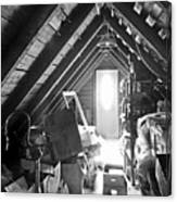 Attic Space Bw Canvas Print