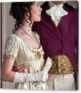 Attractive Regency Couple Canvas Print