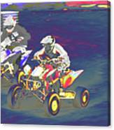 Atv Racing Canvas Print