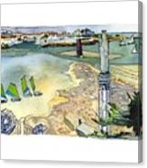 Au Bord De La Mer, La Rochelle, Charente-maritimes Canvas Print