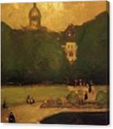 Au Jardin Du Luxembourg 1899 Canvas Print