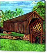 Auchumpkee Creek Covered Bridge Canvas Print