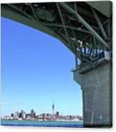 Auckland Harbour And Bridge Canvas Print