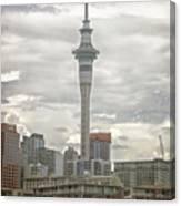 Auckland New Zealand Sky Tower Textured Canvas Print