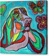 Audrey Basset Hound Canvas Print