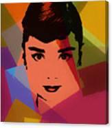 Audrey Hepburn Pop Art 1 Canvas Print