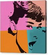 Audrey Hepburn Pop Art 2 Canvas Print